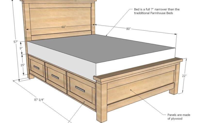 Farmhouse Storage Bed Queen