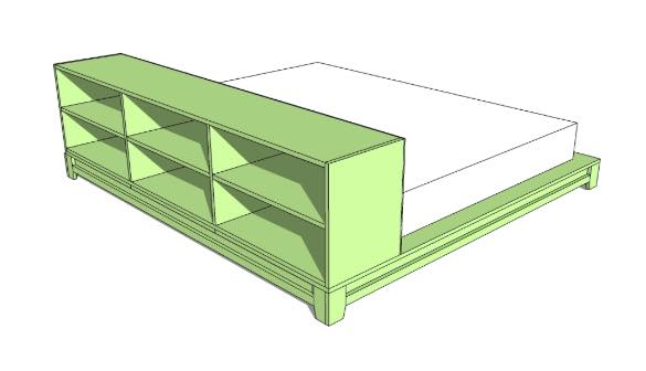 Free plans to build a Teen Platform Bed.