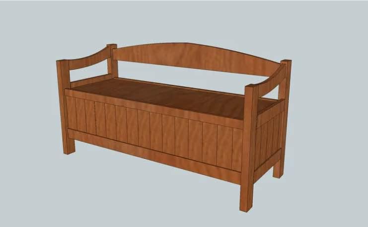 Beaded Panel Bench