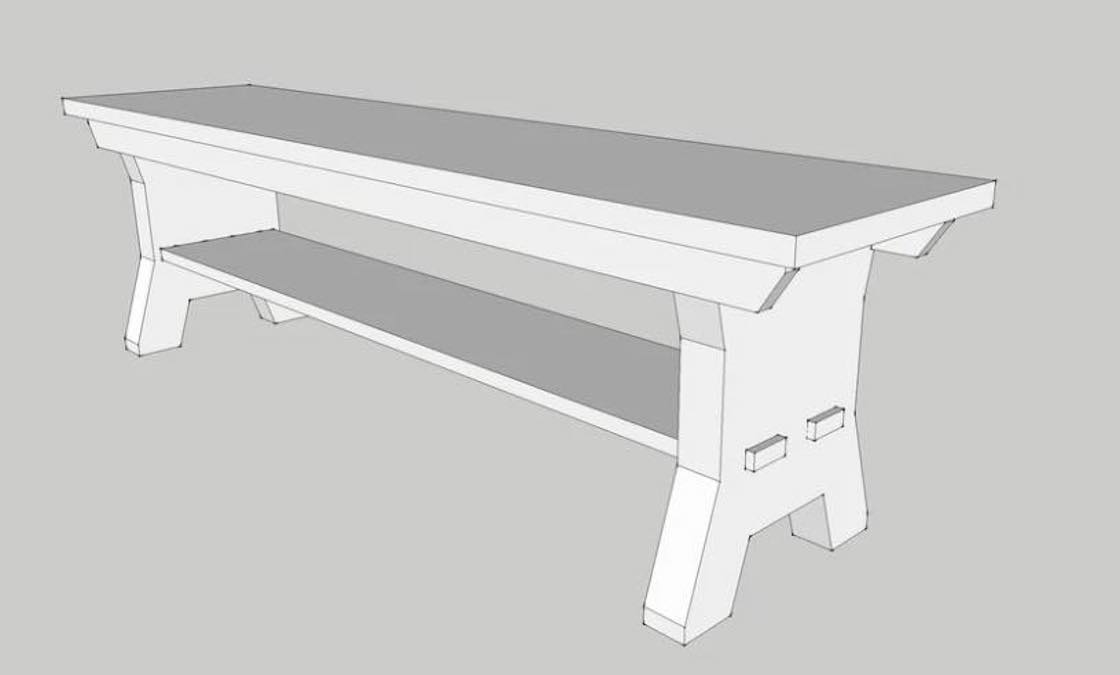 Free plans to build a Nantucket Bench.