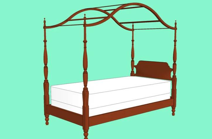 Build your own Canopy Bed Twin Size.