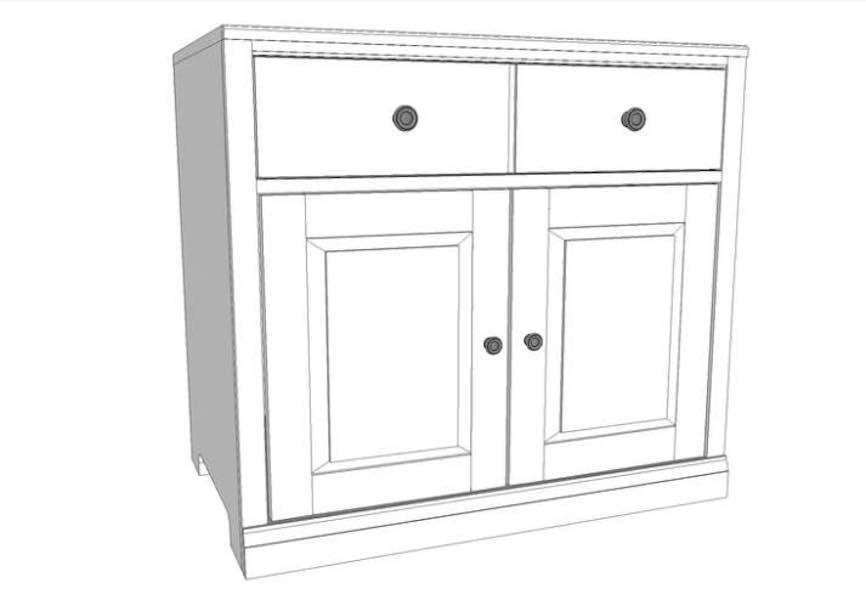 Free plans to build a Computer Cabinet.