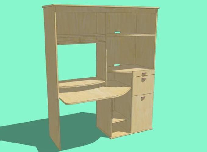 Build a Computer Desk using free plans.