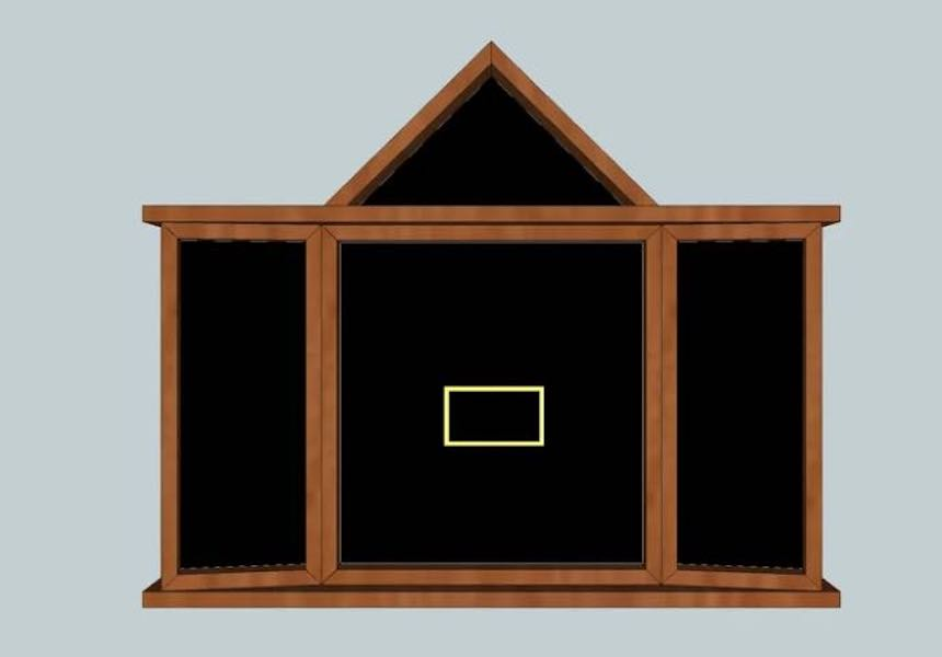 Free plans to build a Flag Display Case.