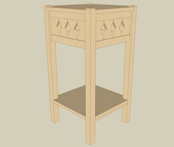 Build a Fern Plant Stand using SketchUp.