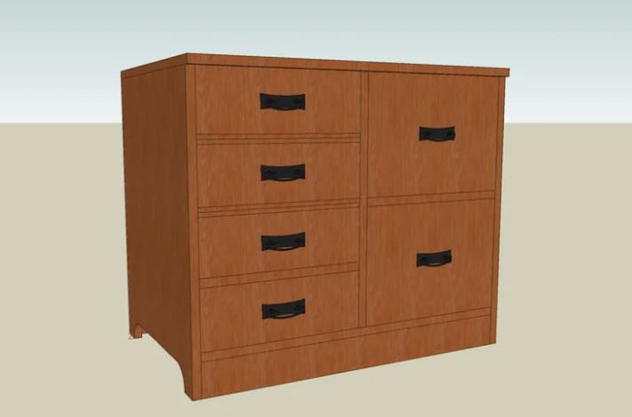 Free plans to build a Filing Cabinet.