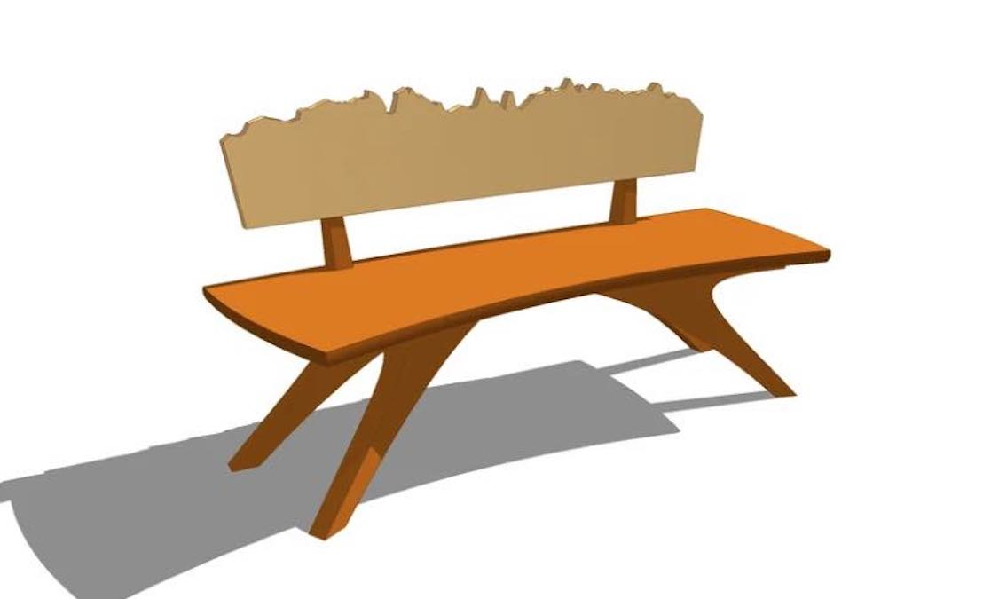 Free plans to build an Entry Foyer Bench.