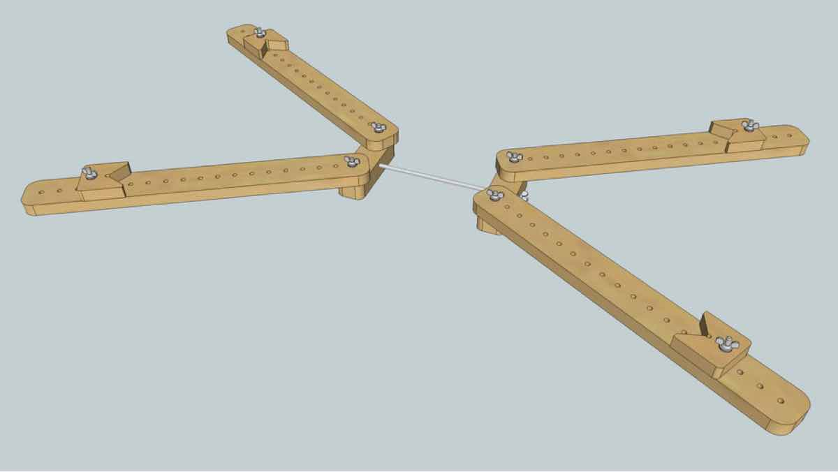 clamping,frame clamps,sketchup,Google 3D,3-D warehouse,adjustable,four corner,drawings,free woodworking plans,projects,do it yourself,woodworkers