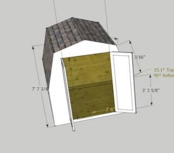 Free plans to build a Small Garden Shed.