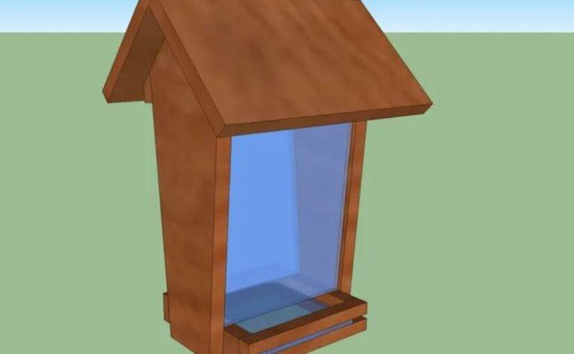 Free plans to build a Hopper Bird Feeder.