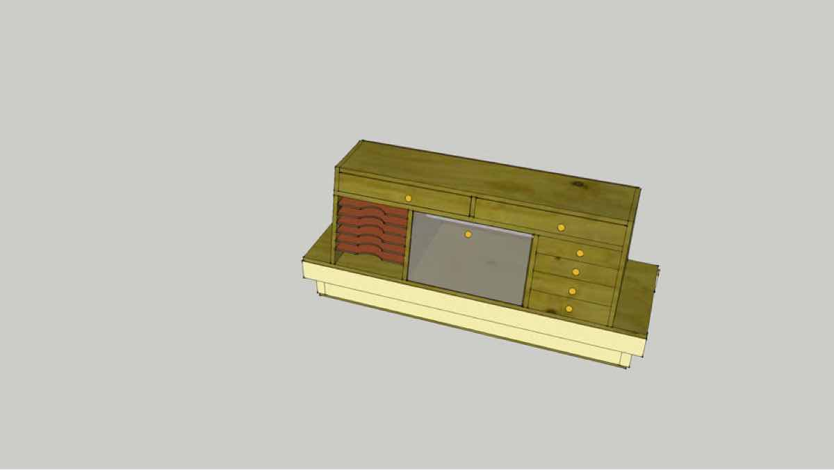 lathes,cabinets,storage,sketchup,Google 3D,3-D warehouse,workshops,woodturning,drawings,free woodworking plans,workshop projects,do it yourself