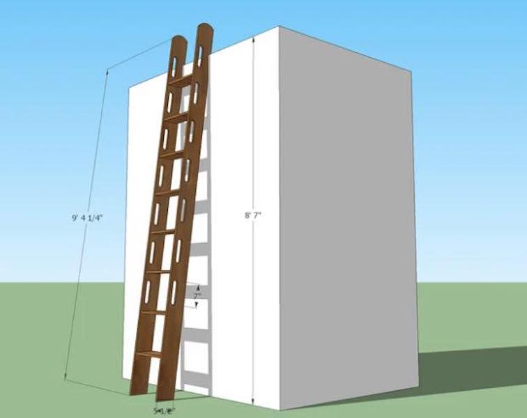 Free plans to build a Loft Ladder.