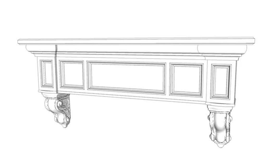 Build a Floating Mantel using free plans.