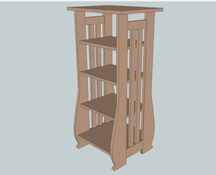 Free plans to build a Mission Sheet Music Stand.