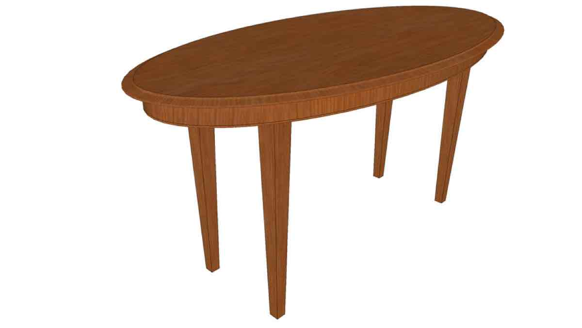 tables,dining,sketchup,Google 3D,3-D warehouse,furniture,oval,wooden,drawings,free woodworking plans,projects,do it yourself,woodworkers