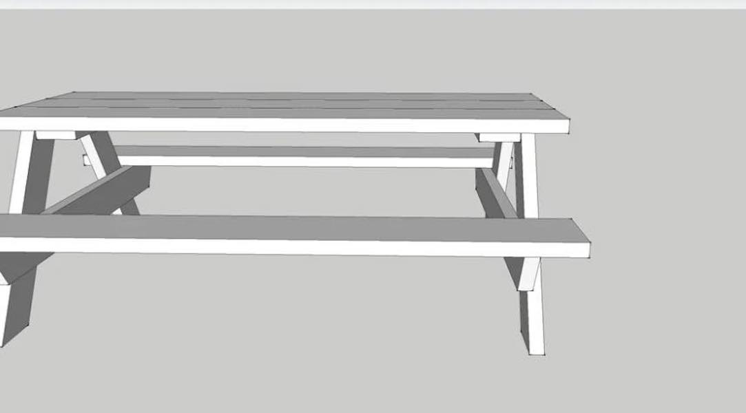 Free plans to build a Picnic Table On Sketch Up.