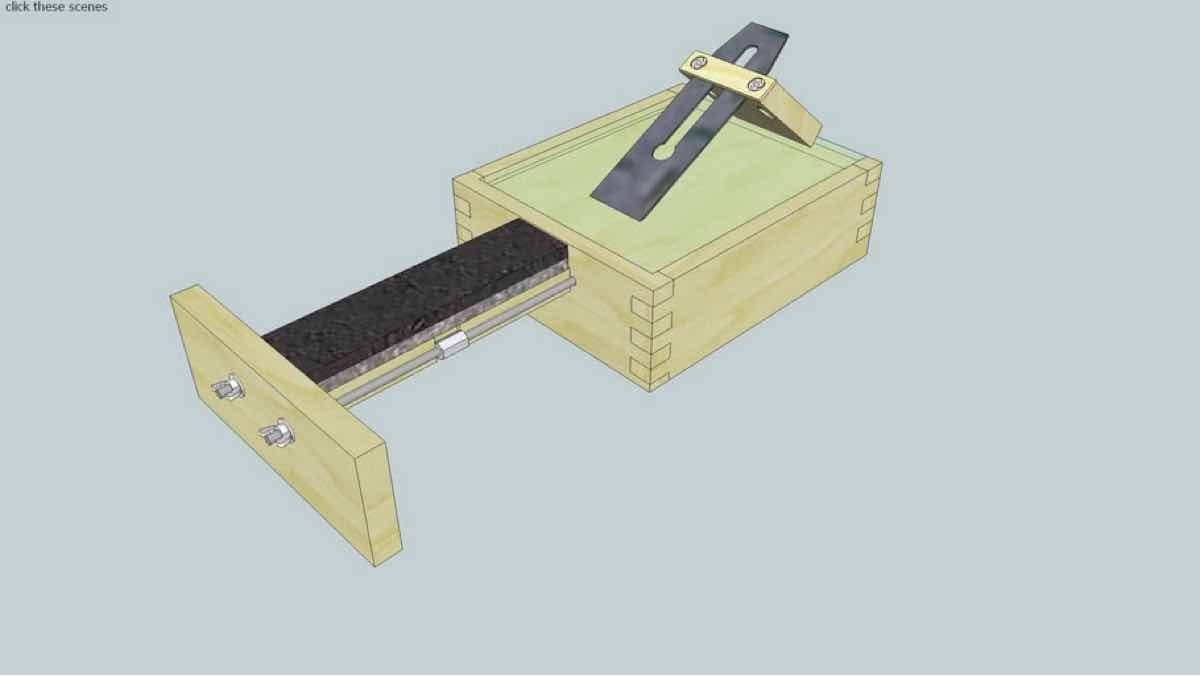 sharpening,plane irons,sketchup,Google 3D,3-D warehouse,tools,drawings,free woodworking plans,projects,do it yourself,woodworkers
