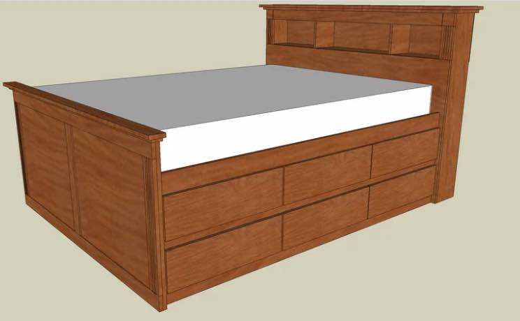 Build a Bed with Storage Queen Size.