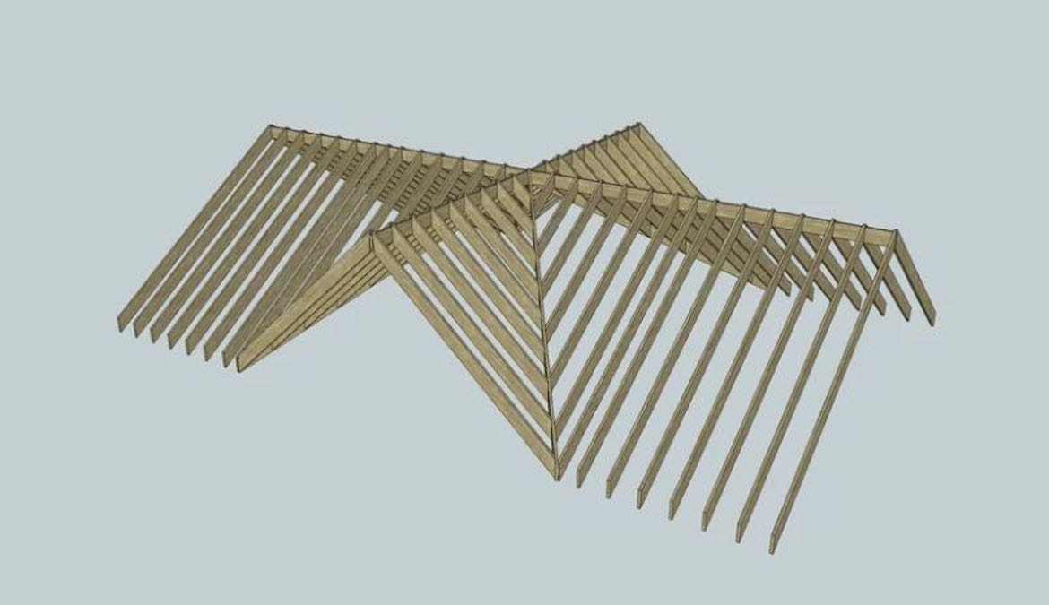 Roof Framing using free plans.