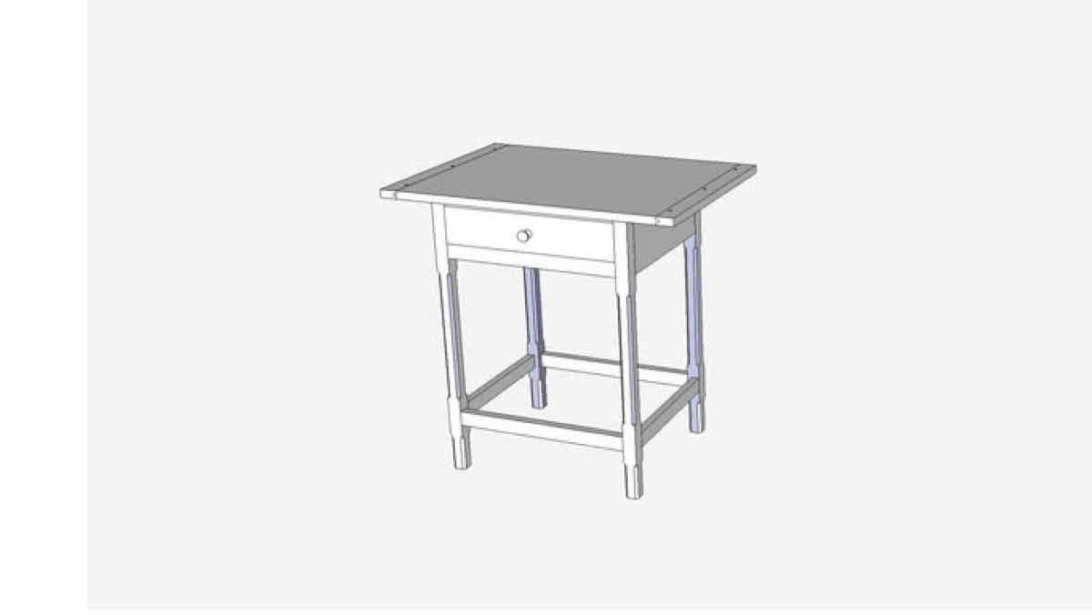 tables,furniture,sketchup,Google 3D,3-D warehouse,side table,end table,wooden,drawings,free woodworking plans,projects,do it yourself,woodworkers