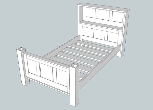 Learn how to build a single bed.