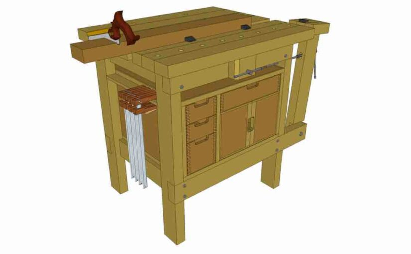 How to build a Small Workbench using SketchUp drawings.