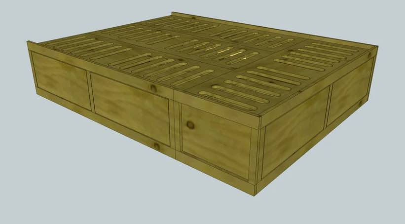 Build your own Storage Bed Frame.