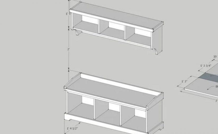 Storage Bench with Shelf