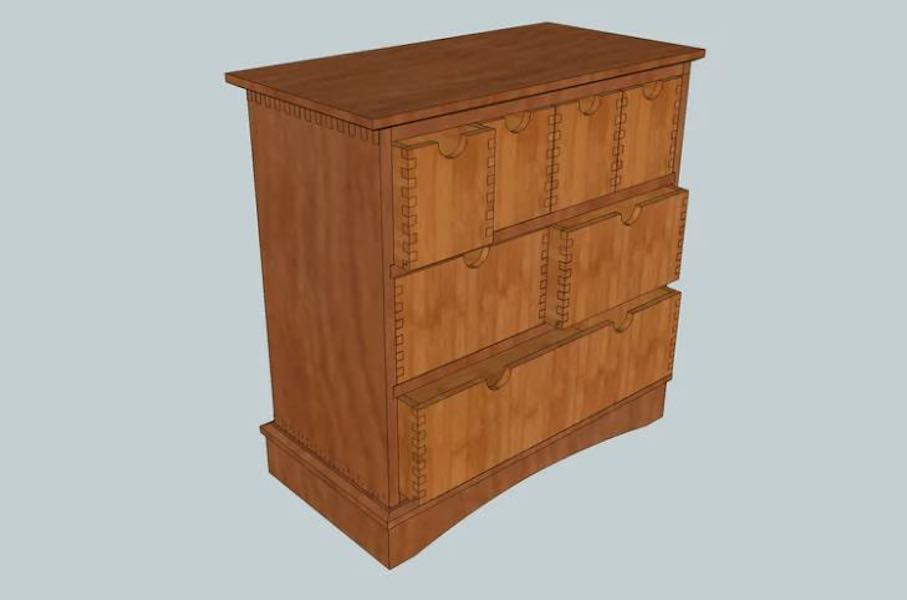 Free plans to build a Box Joint Storage Chest.