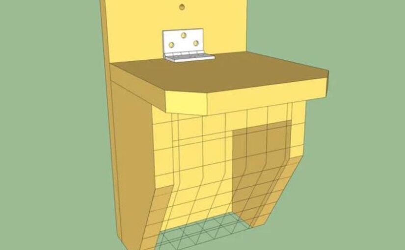Free plans to build a Suet Basket Feeder.