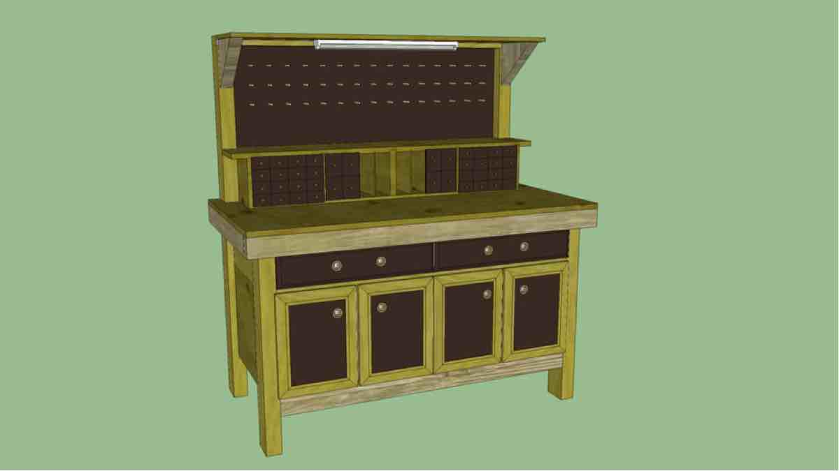 How to build a Workbench with SketchUp plans.