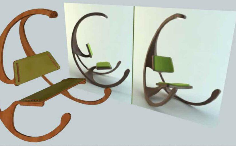 Wishbone Rocking Chair