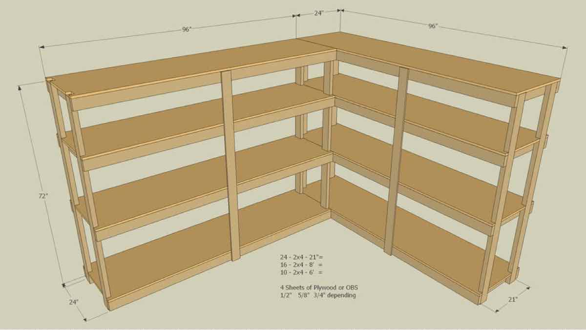 2x4,storage,shelves,garages,sketchup,Google 3D,3-D warehouse,basements,shelving,units,drawings,free woodworking plans,projects,do it yourself,woodworkers