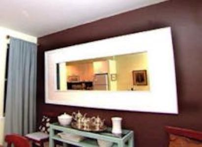 Build a Mirror Frame using free plans.