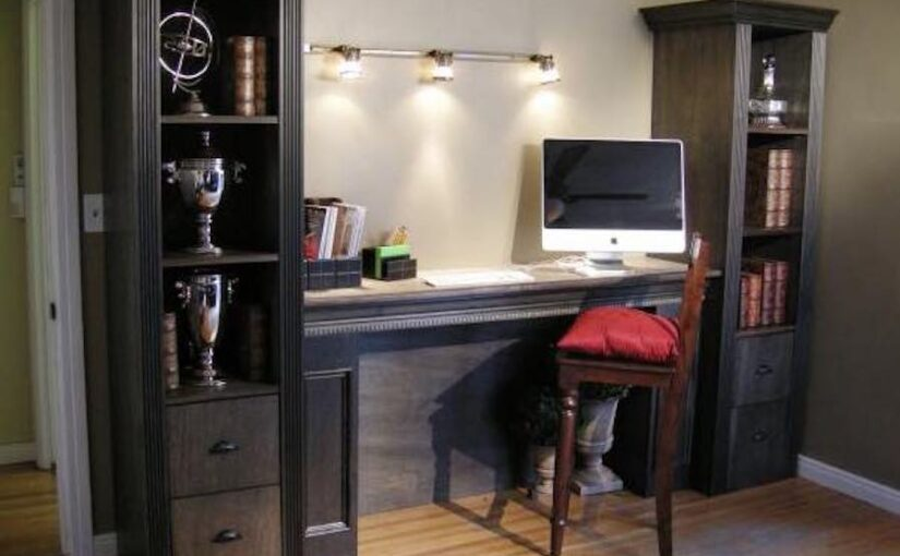 Shelving Tower over Filing Cabinet