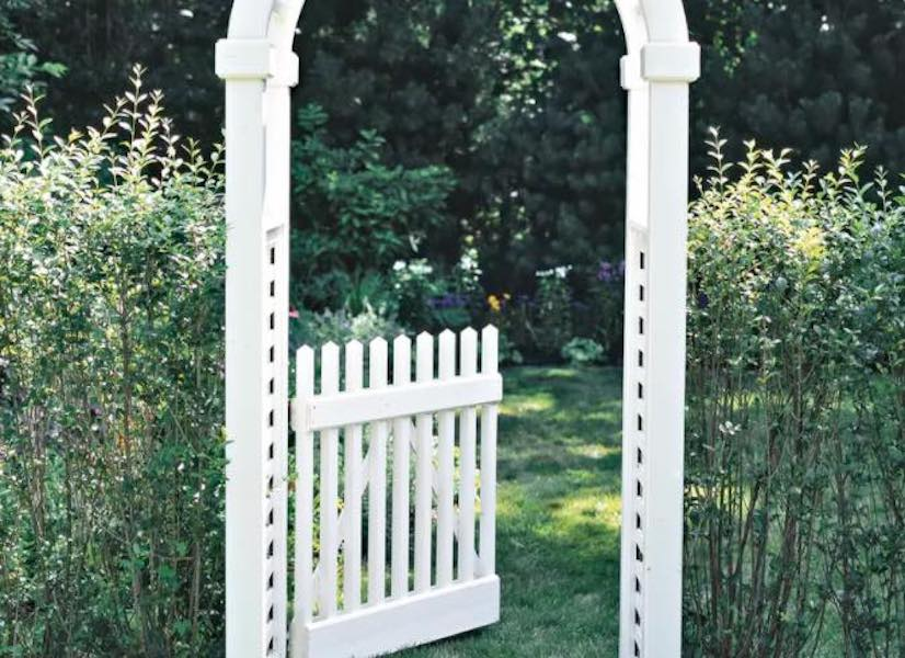 Free plans to build a Garden Arbor And Gate.