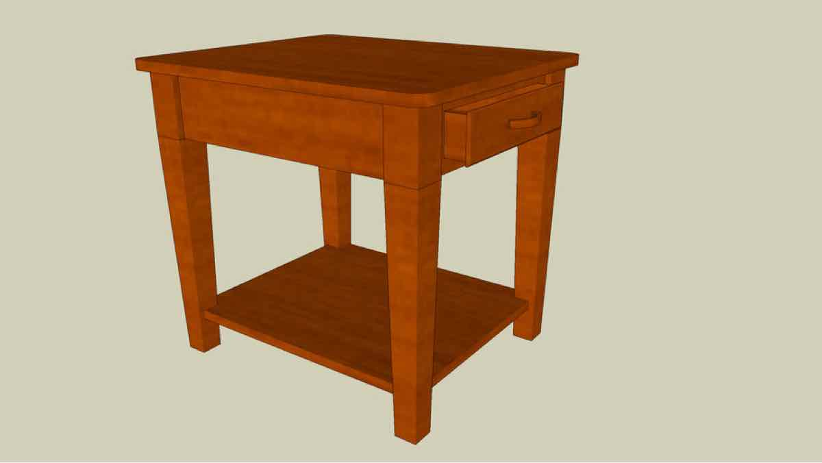 end tables,furniture,sketchup,Google 3D,3-D warehouse,storage,side table,living rooms,drawings,free woodworking plans,projects,do it yourself,woodworkers