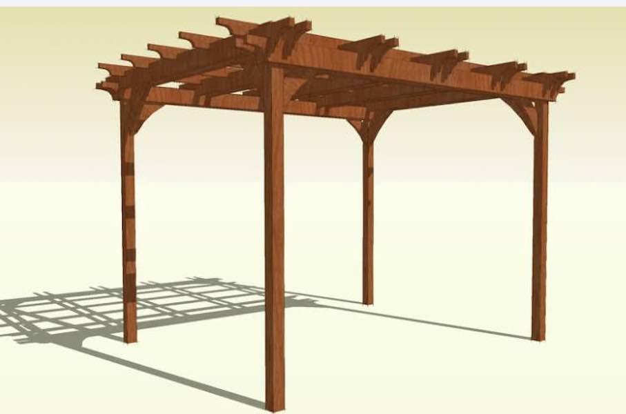 Free plans to build a pergola.