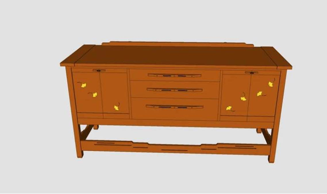 Build an Arts and Crafts Sideboard.
