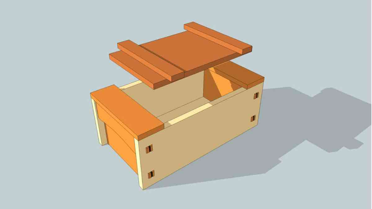 Japanese Style Toolbox SketchUp plans