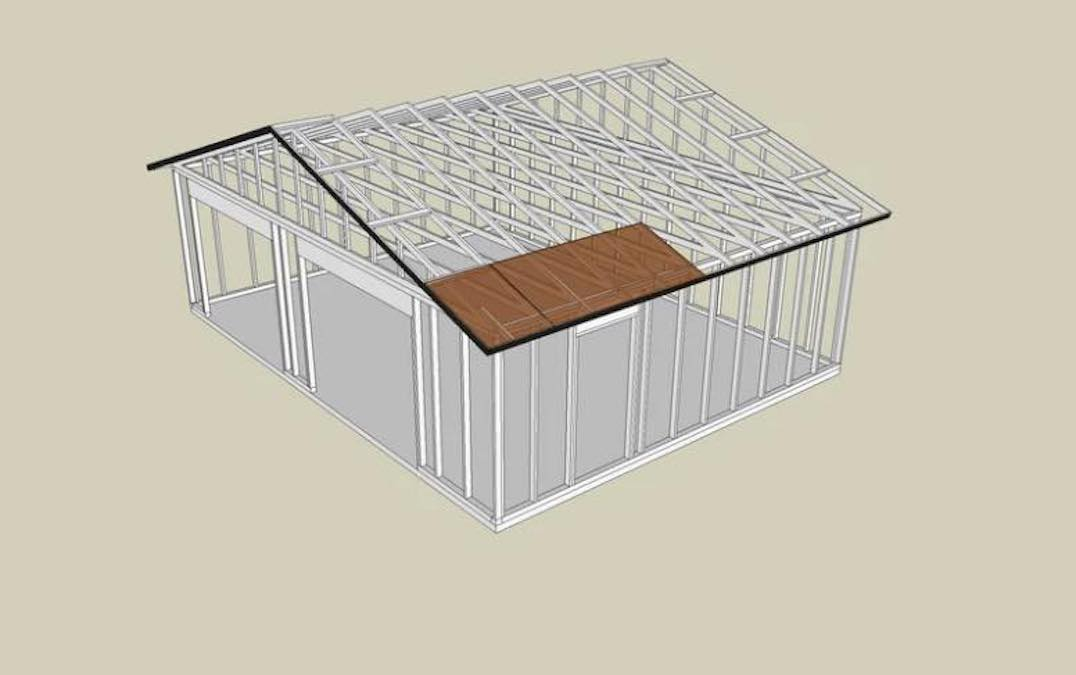 Free plans to build a Two Car Garage.