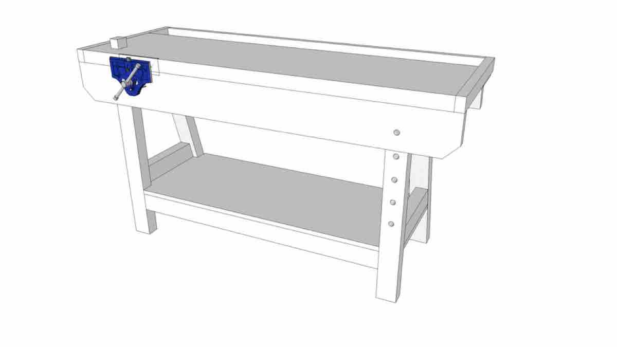 This is a link to a Google 3D SketchUp drawing for a workbench. You will need the SketchUp software to download this drawing and its freely available online. We do not provide support for this software.