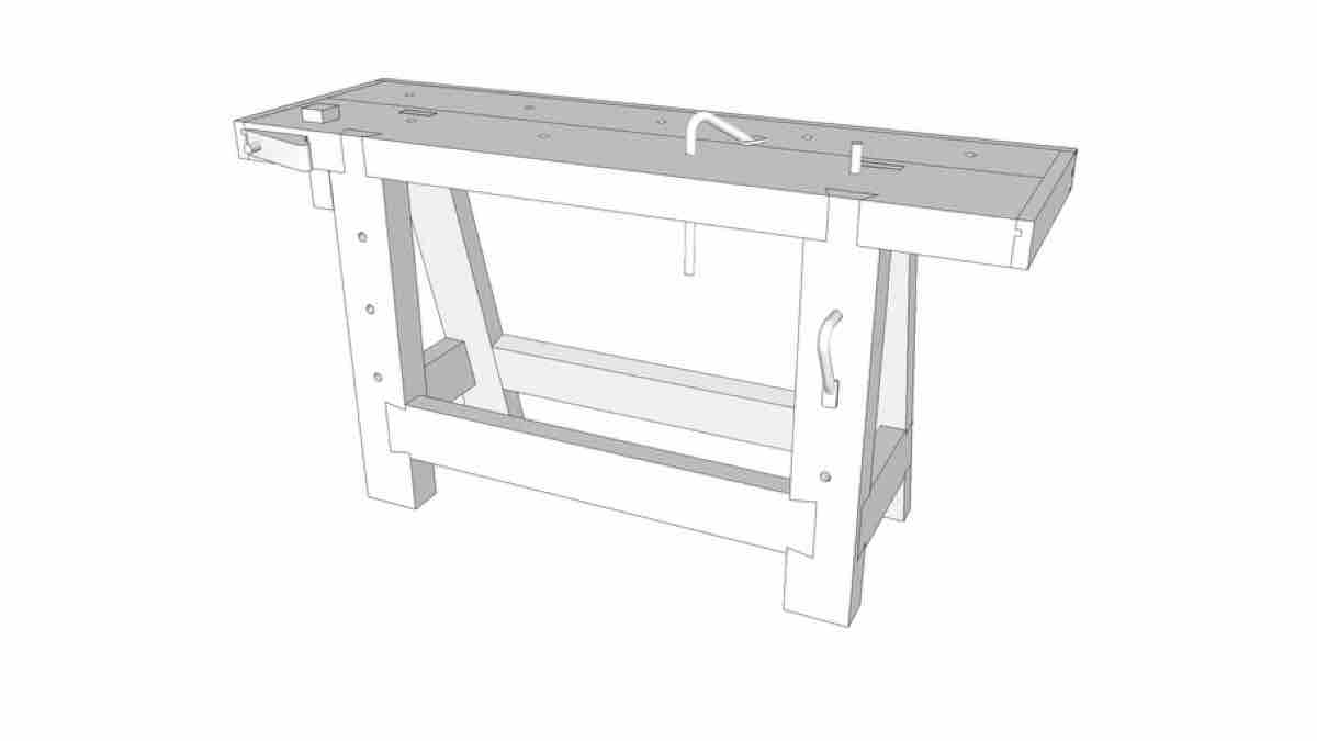 How to build a Modified Roubo Workbench free project.