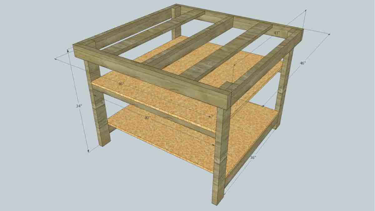 How to build a Worktable Base using SketchUp plans.