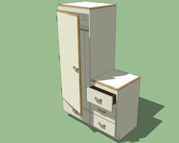 Dresser and Wardrobe Combination