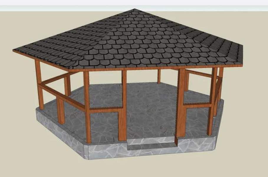 Free plans to build a Gazebo using sketch up.