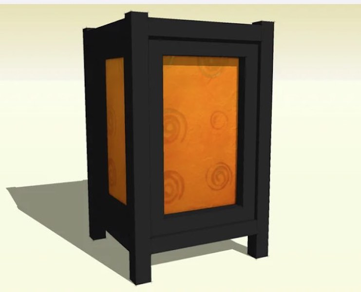 Free plans to build a Japanese Style Lamp.