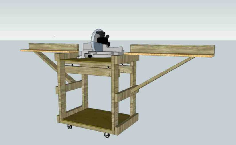 How to build a Miter Saw Stand free project Google SketchUp.
