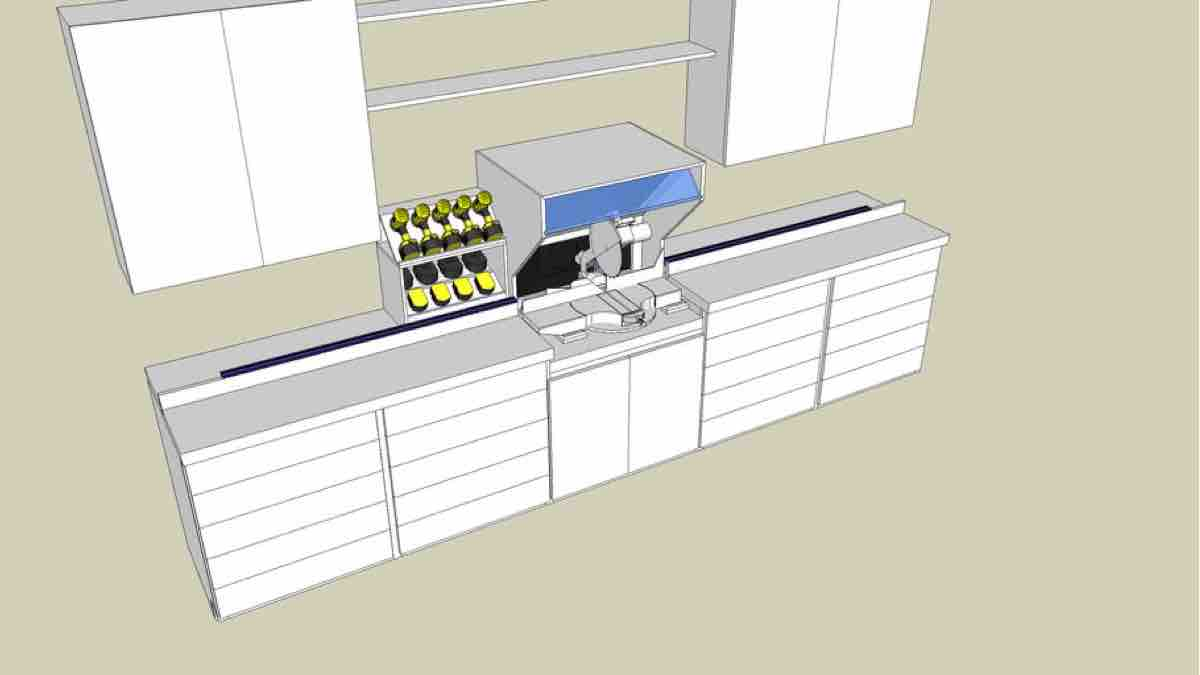 How to build a Miter Saw Station free project with Google SketchUp.