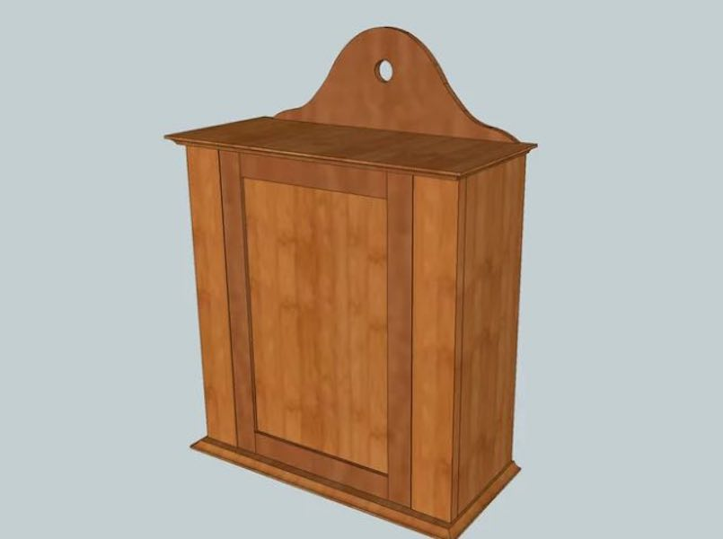Free plans to build a Shaker Wall Cabinet.